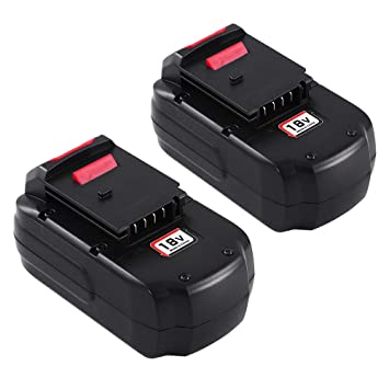 2pack 18v 3 6ah Replacement Battery For Porter Cable Pc18b Pcc489n