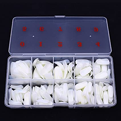 Yimart 500PCS Long Ballerina Half Cover Nail Tips Natural Coffin False Nails ABS Artificial DIY False Fake UV Gel Nail Art Tips With Box Yimart®