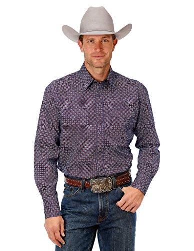 (Roper Western Shirt Mens L/S 3 Snap Cuffs L Red 03-001-0225-0715 Re)
