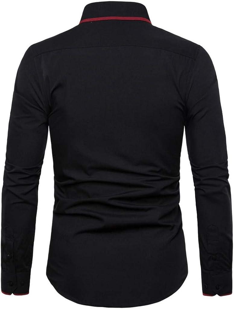 Slim Fit Casual Solid Fashion Shirts MODOQO Mens Button Down Shirts