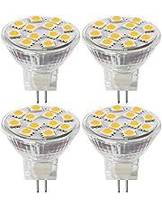 2W LED MR11 Light Bulbs, 12v 20w Halogen Replacement, GU4 Bi-Pin Base