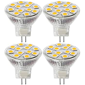 2.4W LED MR11 Light Bulbs, 12v 20w Halogen Replacement, GU4 Bi-Pin