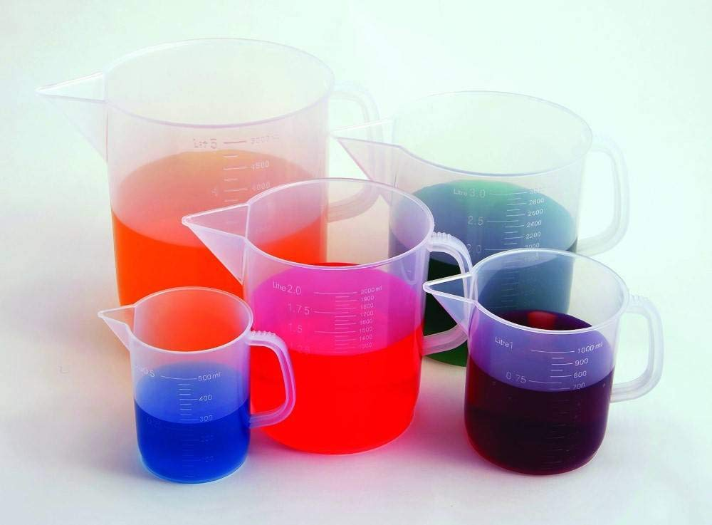 United Scientific 81124 Polypropylene Short Form Pitchers, 3000ml Capacity (Pack of 6) by United Scientific Supplies