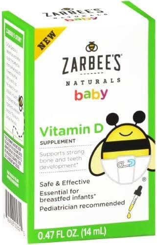 Zarbee's Naturals Baby Vitamin D Supplement (Pack of 36)