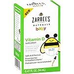Zarbee's Naturals Baby Vitamin D Supplement (Pack of 14)