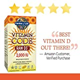 Garden of Life Raw D3 Supplement - Vitamin Code Whole Food Vitamin D3, Dairy and Gluten Free, Vegetarian Capsules - 51ZdUXUnoRL - Garden of Life Raw D3 Supplement – Vitamin Code Whole Food Vitamin D3, Dairy and Gluten Free, Vegetarian Capsules