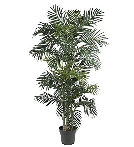 SKB Family 6.5' Golden Cane Palm Silk Tree golden majestic atmosphere by SKB family