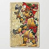 Society6 Wooden Cutting Board, Rectangular, Tribal God War Dance Folk Art by bohemianbound