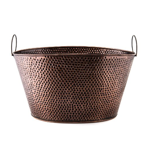 - Old Dutch 636 Oval 7.9-Gallon Party Tub, 18 by 15 by 93/4-Inch, Antique Copper