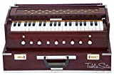 Maharaja Musicals, Folding Harmonium Instrument, In USA, 9 Stops, Rosewood Color, Safri, 3 1/2 Octave, Coupler, Book, Bag, Tuned To A440, Musical Instrument Indian