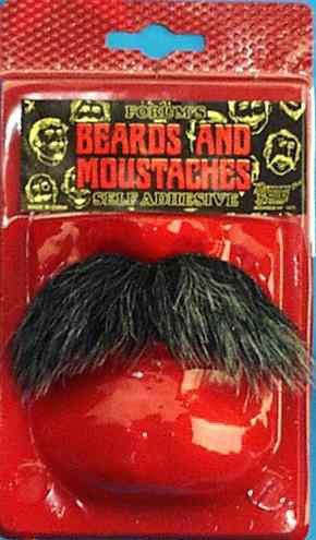 Literate Costume Moustache Black One Size by Forum Novelties (Theatrical Moustaches And Beards)