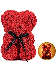 Rose Teddy Bear Mother's Day Gift for Mom Anniversary Birthday Wedding Gifts Girlfriend Her Women Wife