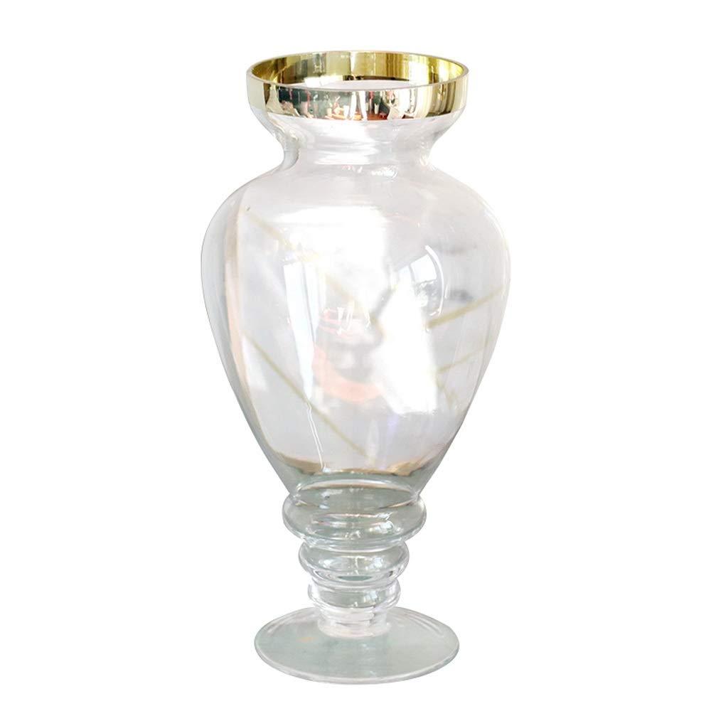 色ガラス花瓶用花緑植物結婚式の植木鉢装飾ホームオフィスデスク花瓶花バスケットフロア花瓶 B07R8T3JFS