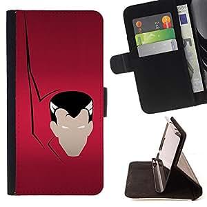 - Vampire Minimalist - - Prima caja de la PU billetera de cuero con ranuras para tarjetas, efectivo desmontable correa para l Funny HouseFOR Apple Iphone 5C