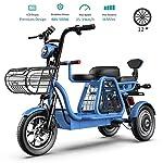 51ZdW506j6L. SS150 ZWDM Biciclette 500W Elettrici per Adulti 3 Ruote Mountain Motorino Elettrico 48V 8AH 12 '' Bicicletta Elettrica con La…