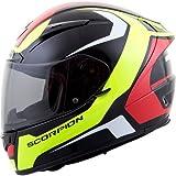 Scorpion Dispatch EXO-R2000 Street Bike Racing Motorcycle Helmet - Neon / Large