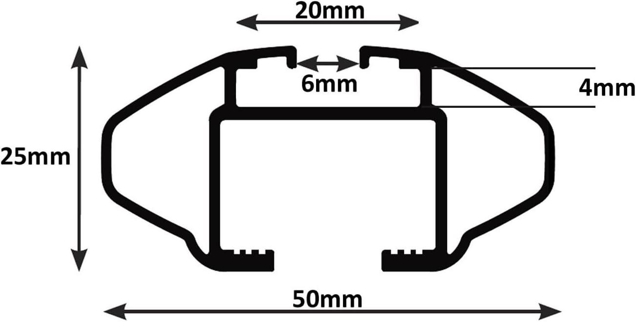 2010-2017 Dachbox VDPMAA320 320Ltr abschlie/ßbar schwarz matt 5 T/ürer Dachtr/äger CRV107A kompatibel mit Seat Ibiza IV Kombi