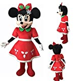 Lilgee New Christmas Holiday Minnie Mouse Mascot Costume Adult Size Halloween Party Birthday