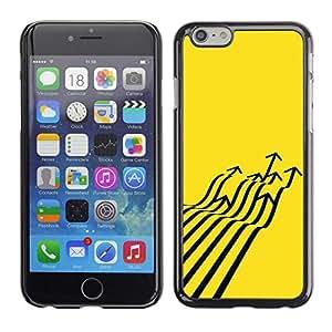 "For Apple Iphone 6 Plus / 6S Plus ( 5.5 ) Case , Avión de combate Flecha Arte abstracto amarillo"" - Diseño Patrón Teléfono Caso Cubierta Case Bumper Duro Protección Case Cover Funda"