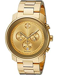 Mens BOLD Metals Chronograph Watch with a Printed Index Dial, Gold (Model 3600278)