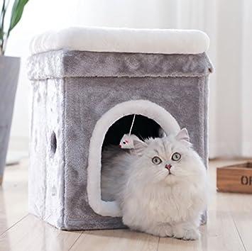 Camada de gato Four seasons universal Mascota Tienda Casa gato Taburete Verano] Extraíble Camada de
