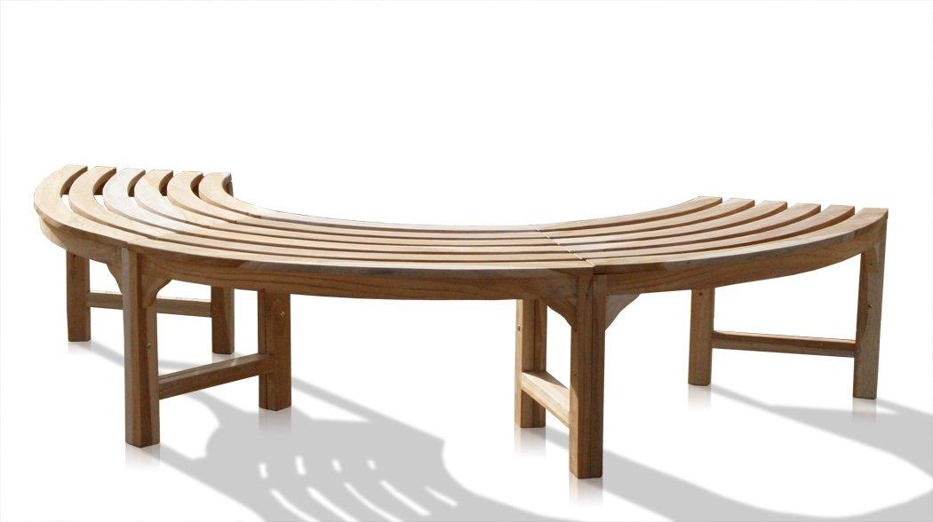 KMH®, 180° Baumbank (Halbkreis) Ohne Rückenlehne Aus