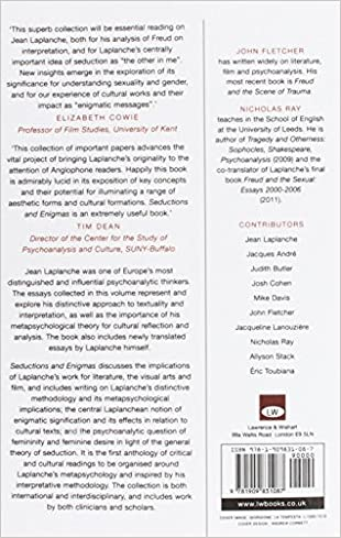 Seductions and Enigmas: LaPlanche, Theory, Culture: John Fletcher ...