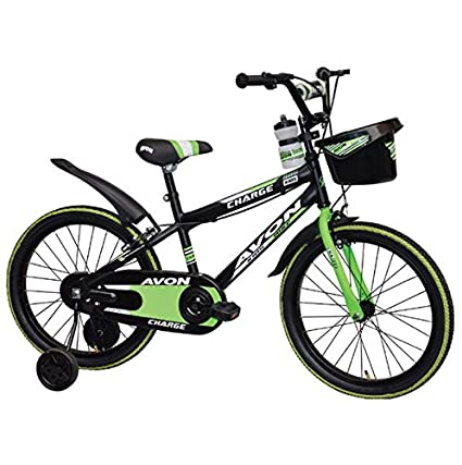 f1b98525156 Buy Avon cycles Charge Cycle for Kids with Trainer Wheels and Front Basket  (20-inch, Multicolour) Online at Low Prices in India - Amazon.in