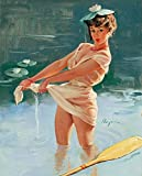Gil Elvgren Giclee Canvas Print Paintings Poster Reproduction(Upsetting Upset)