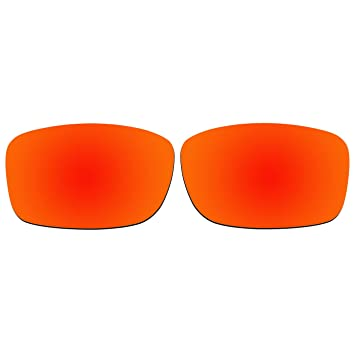 Acompatible Lentilles de remplacement pour Oakley Club Fivois à carreaux NEUF (2013Année) Lunettes de soleil Oo9238, Fire Red Mirror - Polarized
