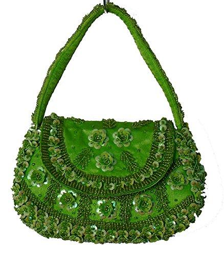 Geko 011 - Bolso de asas para mujer negro small verde