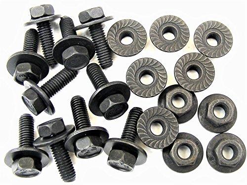 Retro-Motive Body Bolts & Flange Nuts for Toyota Lexus Scion- M6-1.0 x 20mm- 10mm Hex- 20 pcs- #387