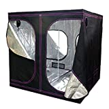 Apollo Horticulture Reflective Mylar Hydroponic Grow Tent for Plant Growing Size 77x77x77 inch