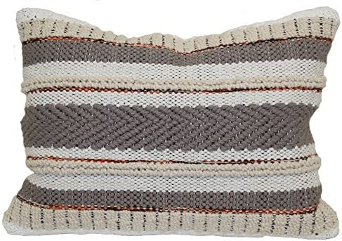 Brentwood Originals Multi Texture Stripe Pillow, 14 x 20 , Neutral