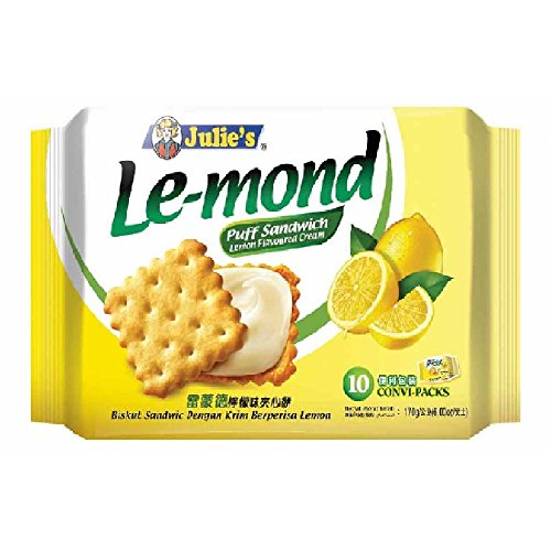 Julie's Cream Puff Sandwich (628MART) (Le-mond Lemon Flavoured, 10 Convi-Packs) -