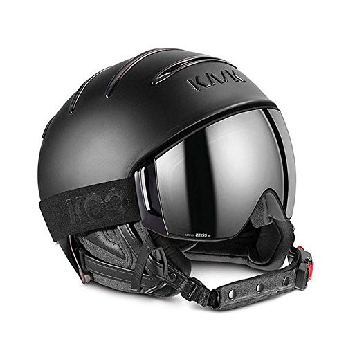 Kask Combo Chrome Ski Helmet - Black with Silver Mirror/Sonar Cloudy 63 (Ski Helmet Chrome)