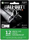 Xbox LIVE 12 Month Gold Membership for Black Ops II [Online Game Code] image