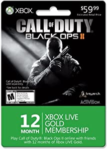 Xbox 12 Month Gold for Black Ops II - Xbox 360 Digital Code