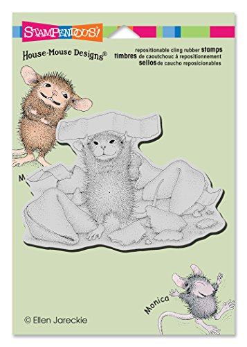 STAMPENDOUS HMCP61 Fortune Cookie Says House Mouse Cling Rubber Stamp