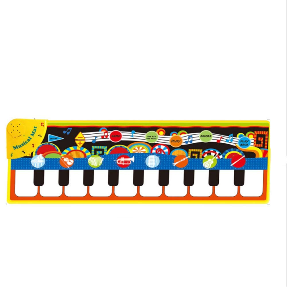 Play Keyboard Mat Electronic Musical Keyboard Playmat 43 Inches 10 Keys Foldable Floor Keyboard Piano Dancing Activity Mat Step And Play Instrument Toys For Toddlers Kids Children's Gift Different Mus by GAOCAN-gq (Image #1)