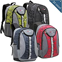 [Sponsored]Wholesale 18 Inch Heavy Duty Student School Backpack, Bulk Case of 20 Assorted Colors