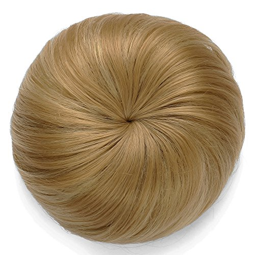 Onedor Synthetic Hair Bun Extension Donut Chignon Hairpiece Wig 16H613A]()