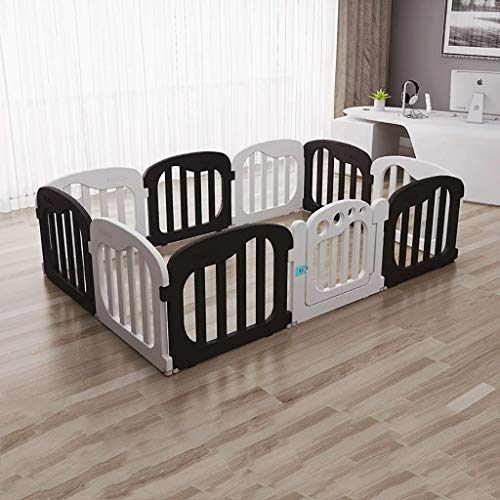 - Adceer Baby Play Fence Folding Room Divider Playground Indoor (Color : Black+White)