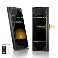 Langogo Genesis 2-in-1 AI Translator Device and Voice Recorder Transcriber, 100+ Languages Instant Two-Way Translation and Transcription Recorder, Built-in Data, 3.1inch Retina Display, Black