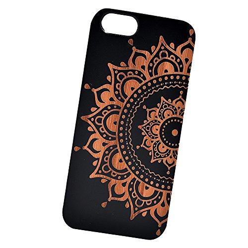 Mandala Engraved Bamboo iPhone Samsung product image