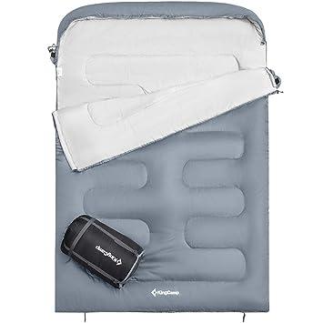KingCamp - Sobre para saco de dormir doble (tamaño XL, 2 personas, tamaño