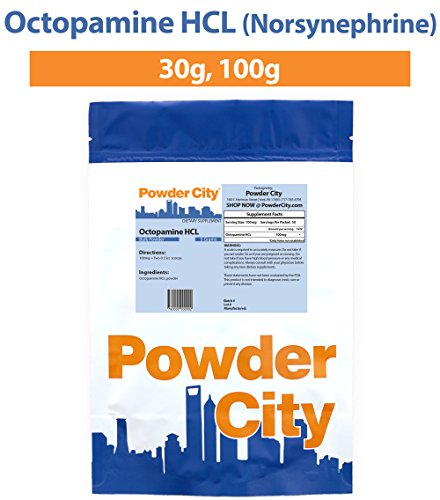 Powder City Octopamine Hcl Norsynephrine 30 Grams