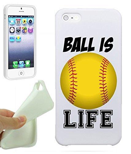 Pelota de softball es vida chicas adolescentes iPhone 5/iPhone 5S ...