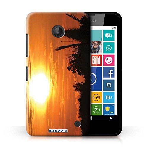 Kobalt® Imprimé Etui / Coque pour Nokia Lumia 635 / ciel orange conception / Série Coucher du Soleil