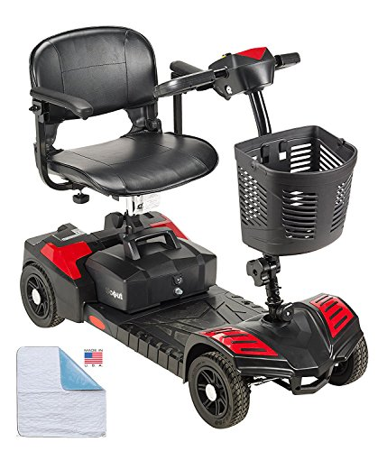 Power Mobility Scooter with Washable Chair Pad Combo - 4 Wheel Mobility (Mobility Combo)